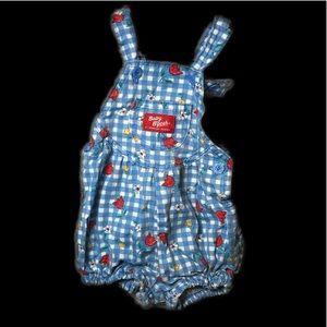 OshKosh B'gosh floral gingham baby overalls